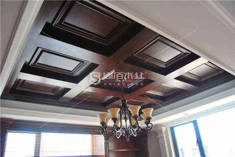 尚佰木业实木吊顶 打造不一样的屋顶天空
